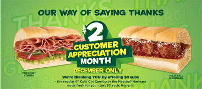 Subway Customer Appreciation Month
