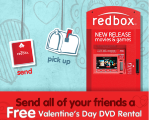 Redbox Valentine's Day promotion