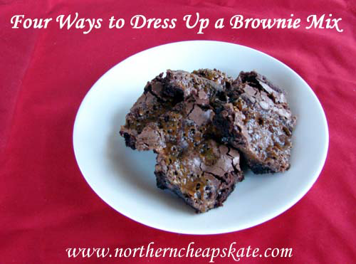 Four Ways to Dress Up a Brownie Mix