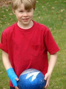 Modeling the SAFESKIN Kids Sports Wrap