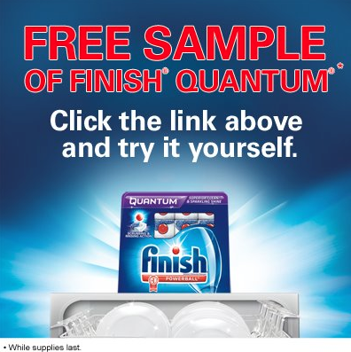 Free Sample of Finish Quantum Tablets