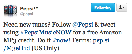 Get a Free Amazon MP3 Credit from Pepsi