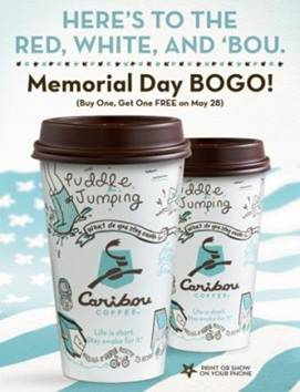 Caribou Coffee BOGO offer