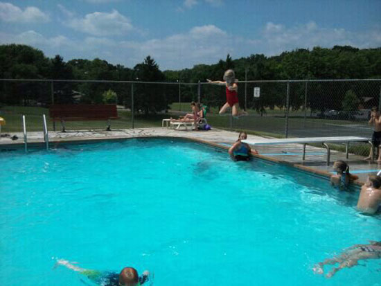 Fun at the community pool