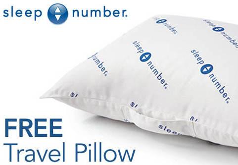 free sleep number travel pillow