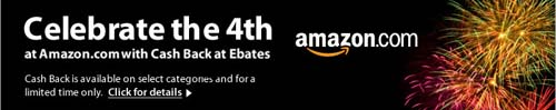 Earn cash back at Amazon
