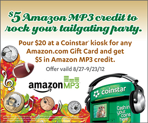 Amazon Mp3 Promo at Coinstar