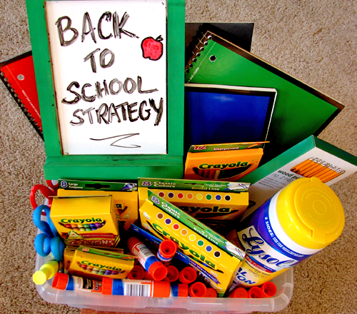 Strategy for Stocking Up on School Supplies