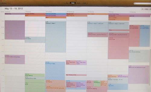 Screenshot of iCal