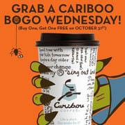 BOGO Caribou Coffee