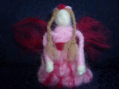 Needle-felted fairy doll