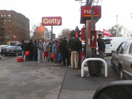 Gas shortage after Sandy