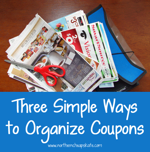 Three Simple Ways to Organize Coupons