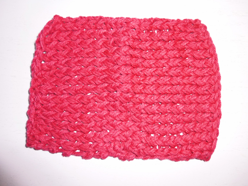 finished washcloth