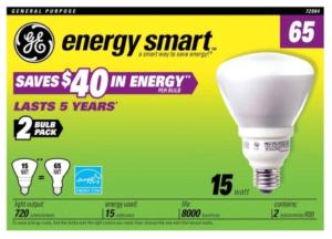 GE Energy Smart CFL 15 watt Bulb 2-pack
