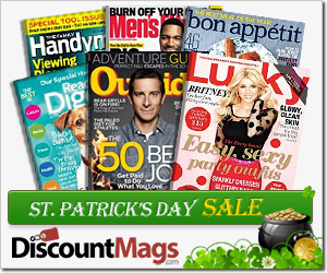 DiscountMags Sale for St. Patrick's Day