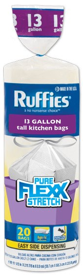 Free sample of Ruffies Pure Flexx trash bags