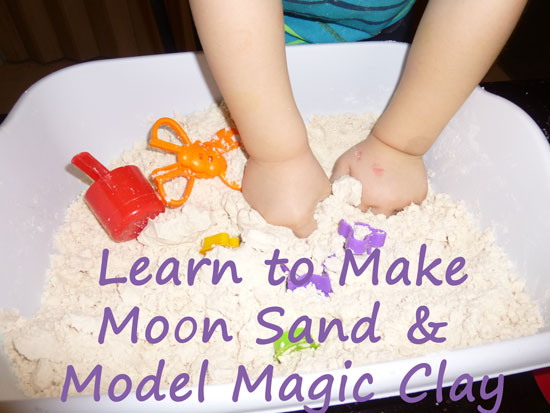 How to Make Moon Sand and Model Magic Clay