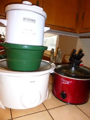 Collection of Slow Cookers