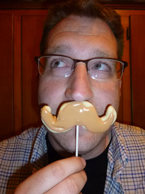 Father's Day Gift idea: Mustache Cookies