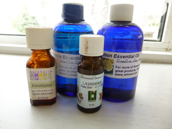 Ingredients for homemade natural insect repellent