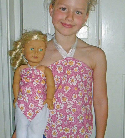 Make Matching Halter Tops for a Child and Doll