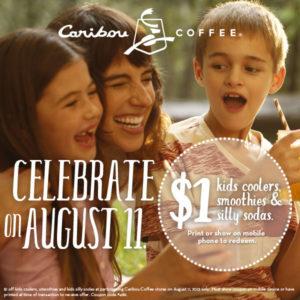 Get $1 kids drinks at Caribou Coffee