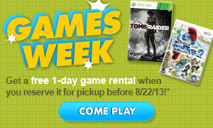 Free Video Game Rental at Redbox