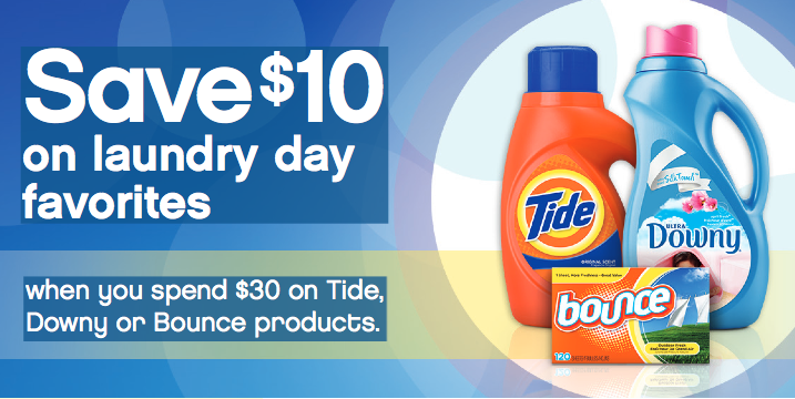 Get a $10 Mail-in Rebate on P&G Laundry Products