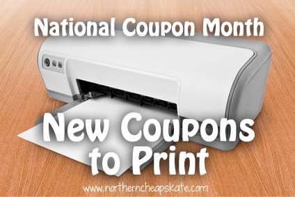 National Coupon Month: New Coupons to Print