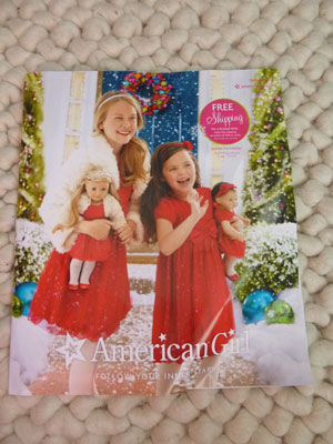 Use the American Girl Doll Catalog for crafts