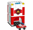 Free LEGO City Mini Firehouse project
