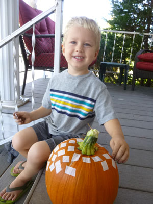 Making the square pumpkin craft