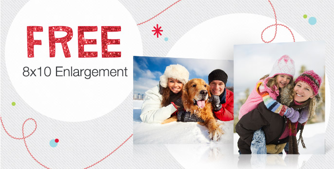 Free 8x10 Photo Enlargement