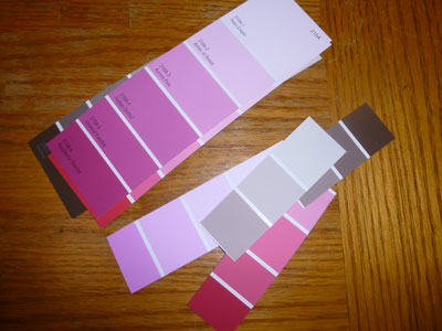 Use paint chips to make creative homemade gift tags