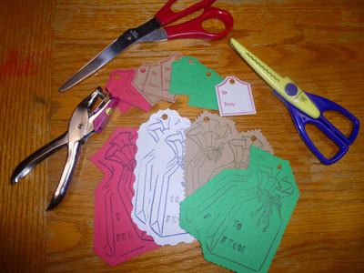 Making creative homemade gift tags