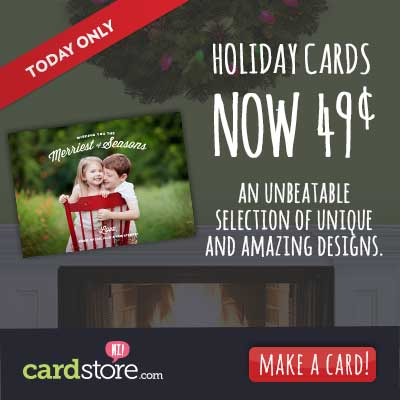Flat Holiday Cards for Just 49 Cents Each