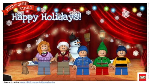 Create a Free LEGO Minifigure Holiday Card