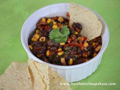 Fiesta Black Bean and Corn Salsa