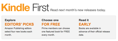 Free Kindle books through Kindle First