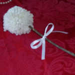 Creating a Tablescape: Simple Pom-Pom flower