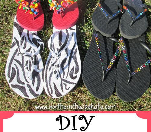 DIY Fun Customized Flip Flops