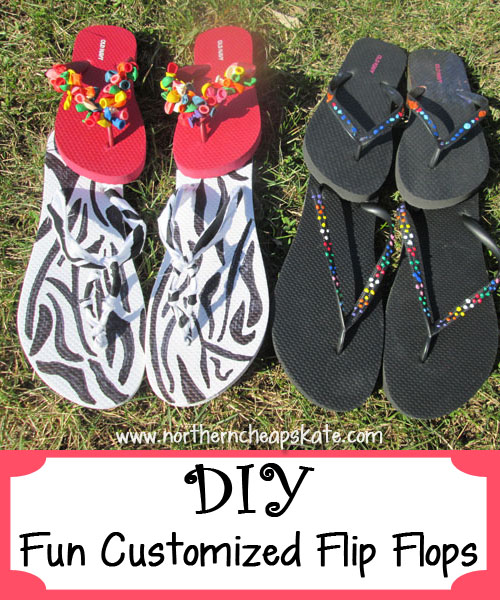 DIY Fun Customized Flip Flops