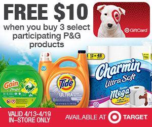 Buy 3 P&G Products, Get Free $10 Target Gift Card