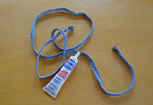 How to Make Denim Coasters: Denim Cord