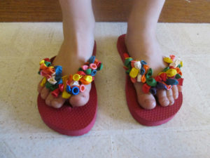 Fun Customized Flip Flops: Balloon Fun