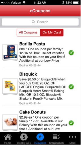 Digital Coupons on the Cub Foods Mobile App