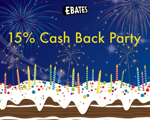 Get 15% Cash Back At Ebates