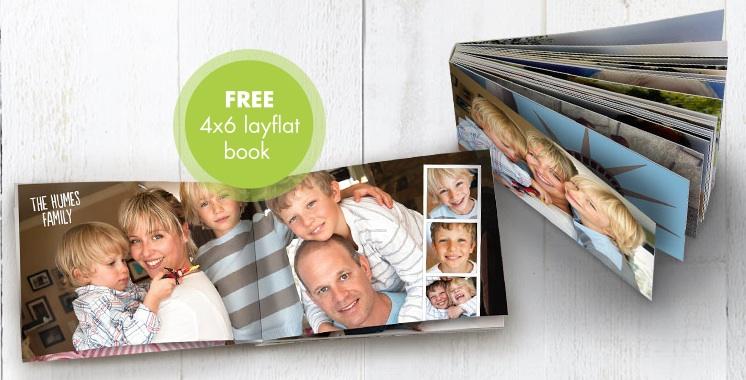 Free 4x6 Layflat Photo Book from Snapfish
