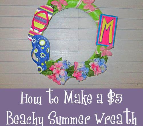How to Make a $5 Beachy Summer Wreath